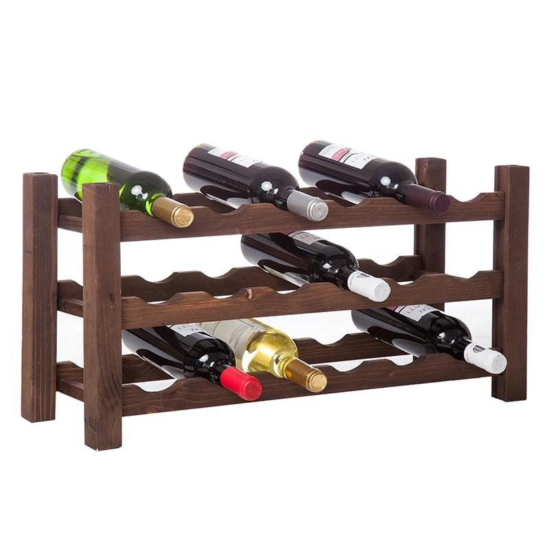 Raft VinO lemn maro 18 sticle