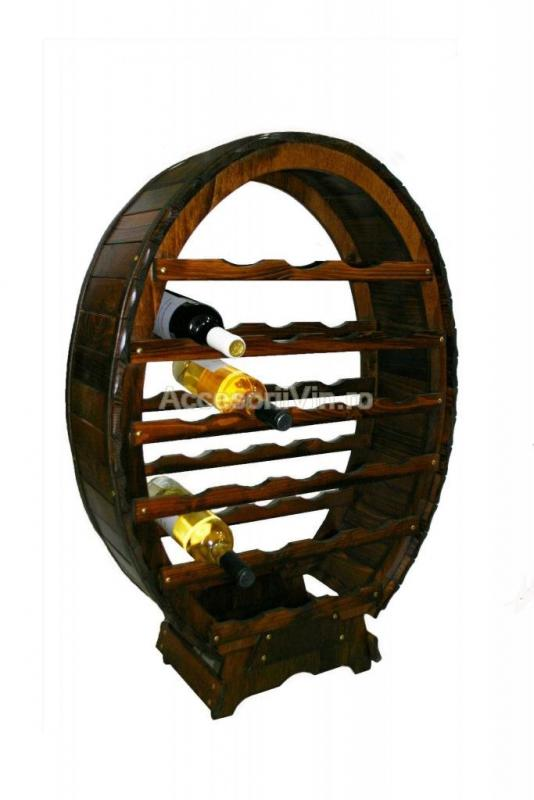 Raft lemn 24 sticle