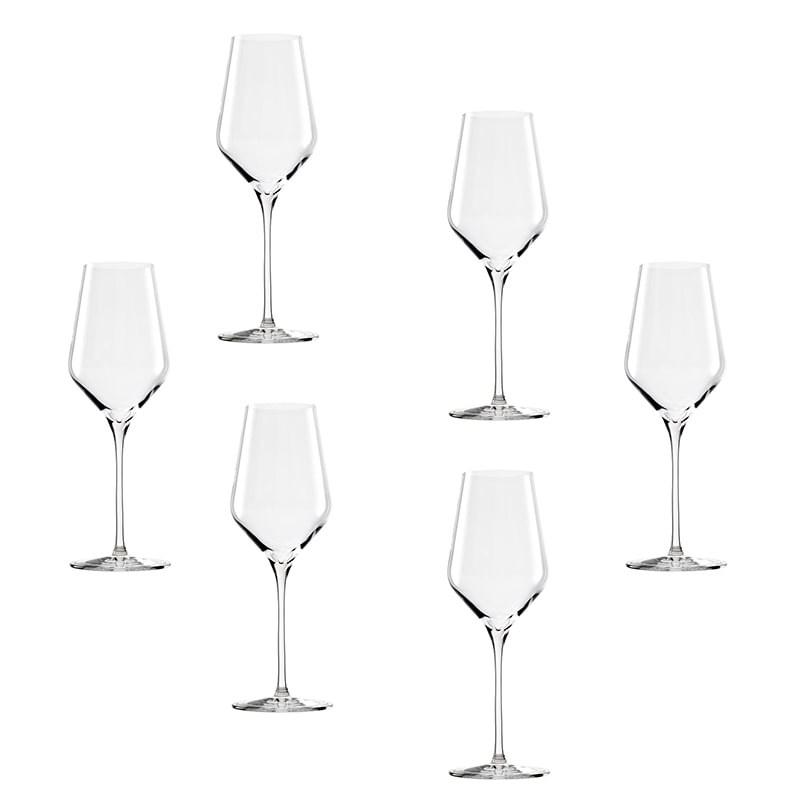 Set 6 pahare Quatrophile pentru vin alb