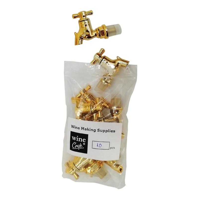 Set 10 robineti plastic auriu