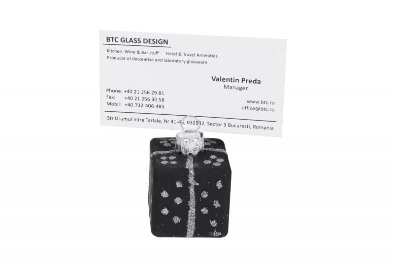 Card holder globulet negru
