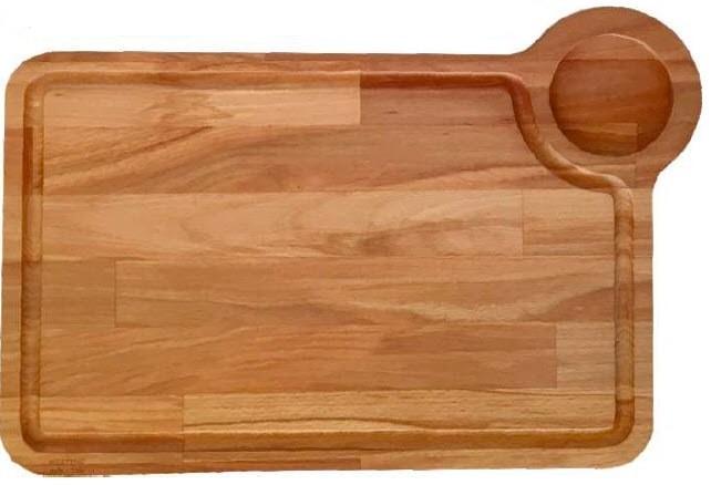 Platou lemn pentru servit friptura