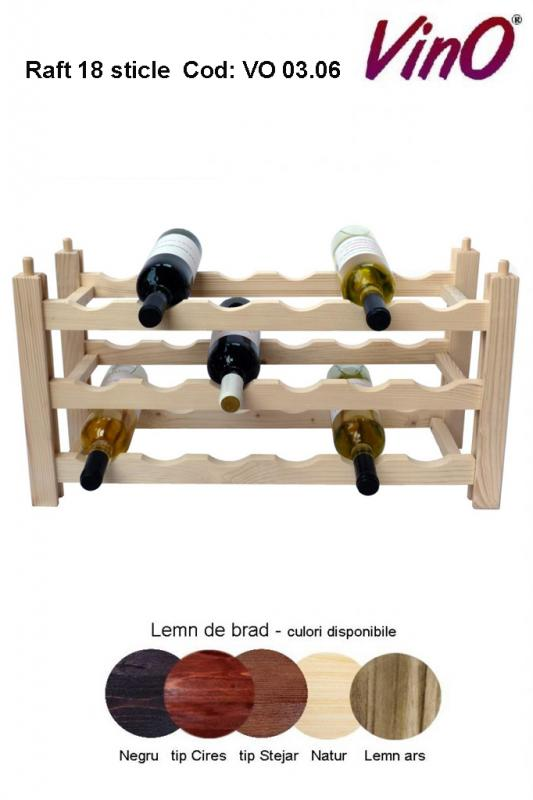 Raft VinO din lemn 3x6 - 18 sticle