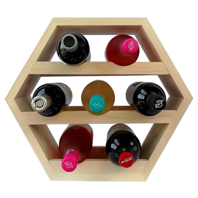 Raft hexagonal 7 sticle vin