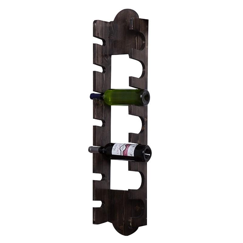 Suport negru 7 sticle vin