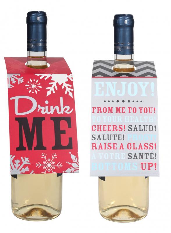 Etichete Craciun sticle vin