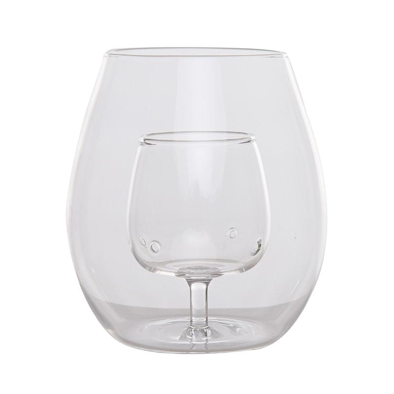 Pahar sticla cu aerator