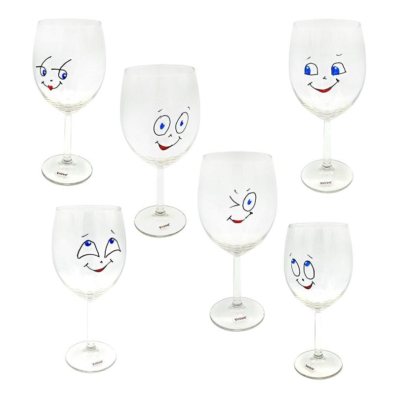 Set pahare cu fete vesele