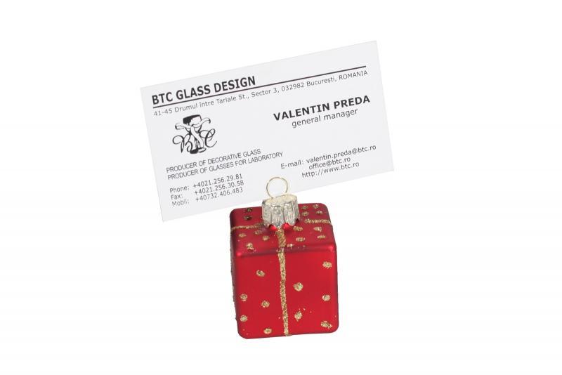 Card holder globulet rosu