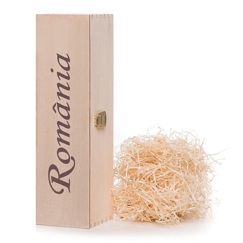 Cutie lemn cu inscris Romania