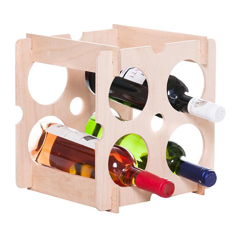 Raft Brick natur patrat 4 sticle vin