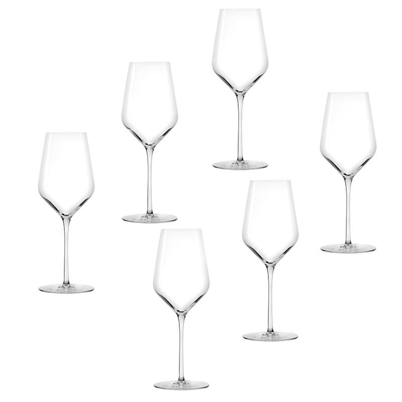 Set 6 pahare Starlight vin alb