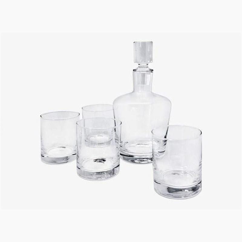 Set whisky din sticla transparenta