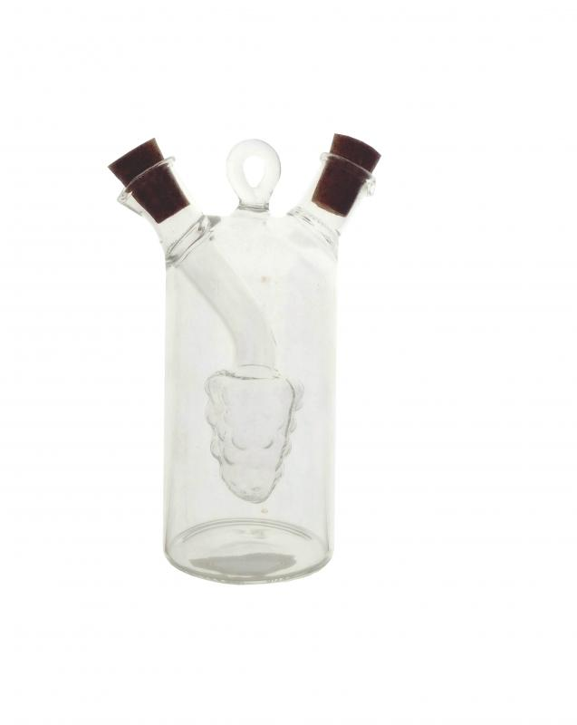Minioliviera cilindrica din sticla cu strugure interior