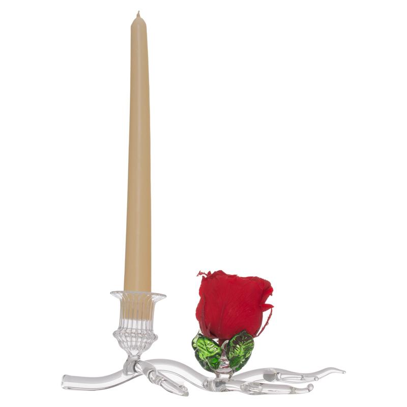 Suport lumanare si trandafir