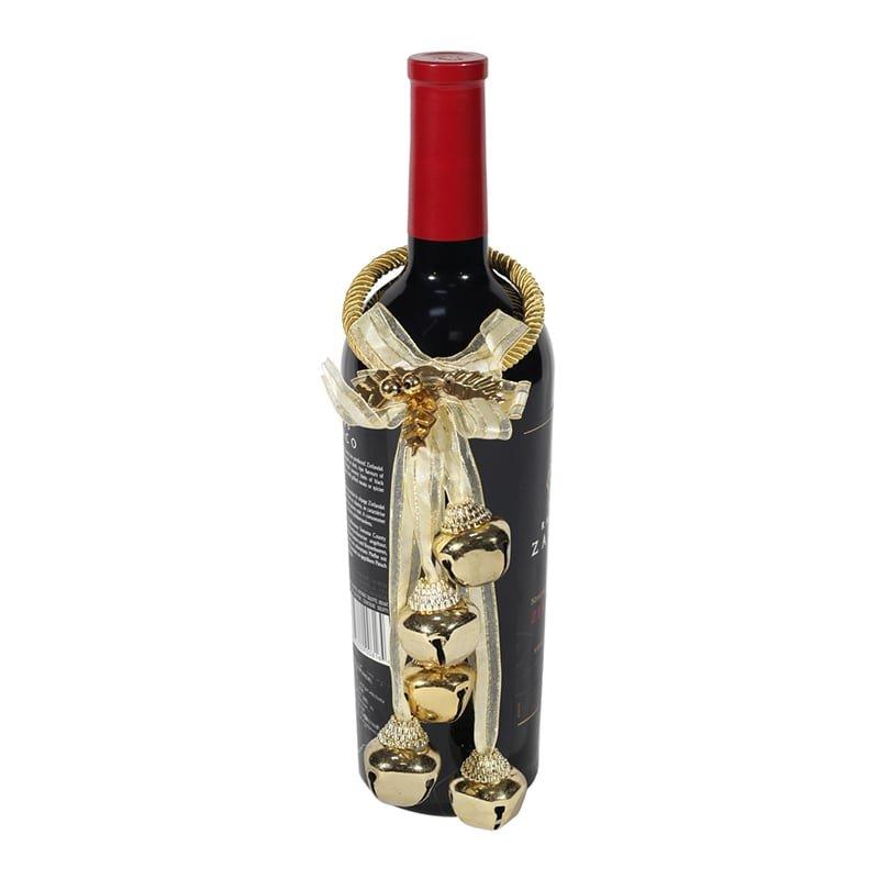 Ornament auriu sticla vin