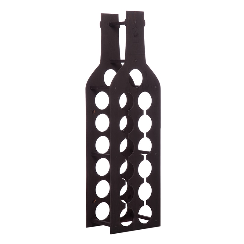 Raft Wine House negru vertical 13 sticle vin
