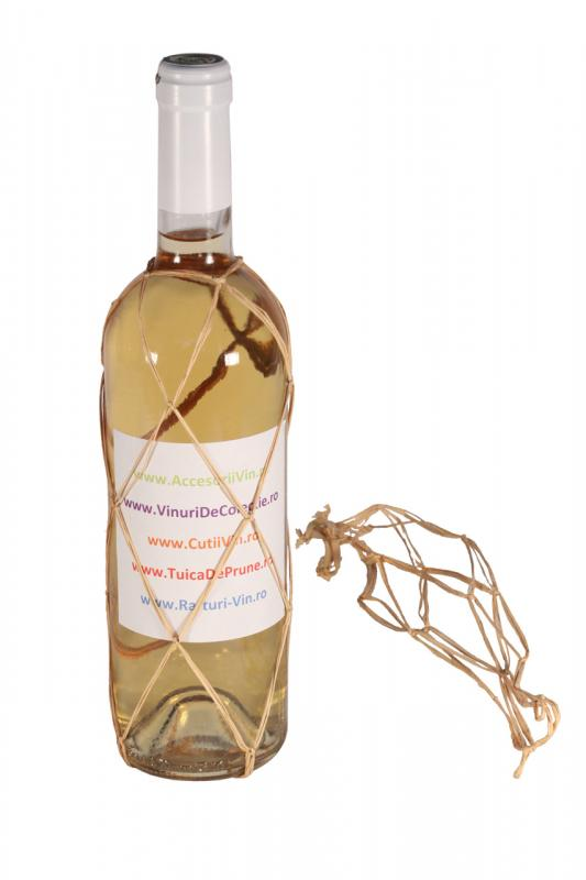 Plasa decorativa sticla vin