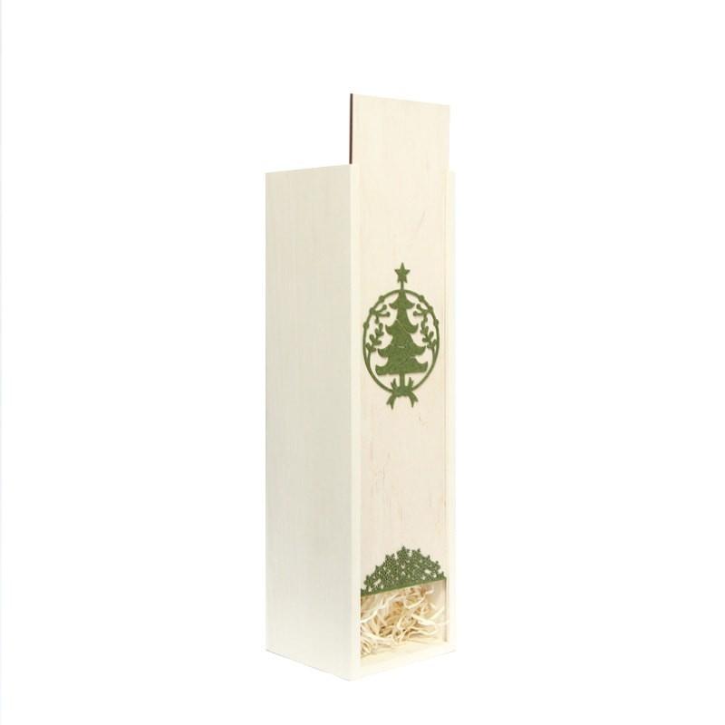 Cutie lemn cu glob bradut