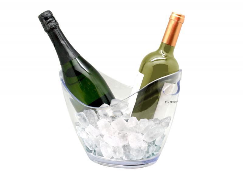 Frapiera transparenta pentru 2 sticle vin