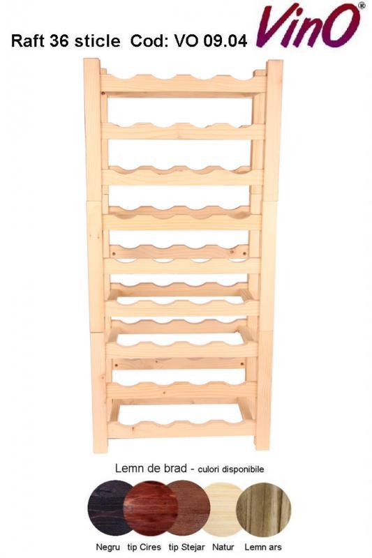 Raft VinO din lemn 9x4 - 36 sticle