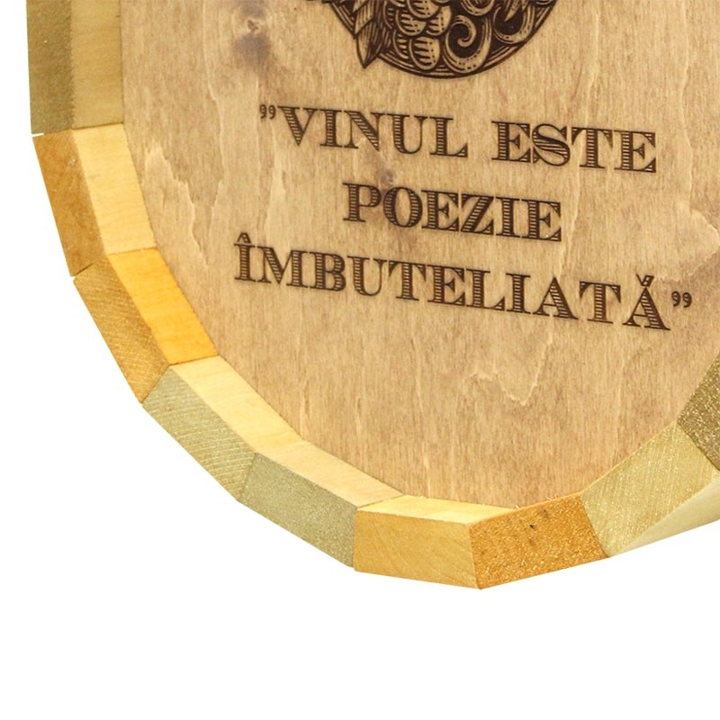 Tablou butoi Vinul este poezie imbuteliata
