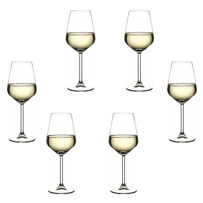 Set 6 pahare Allegra vin alb