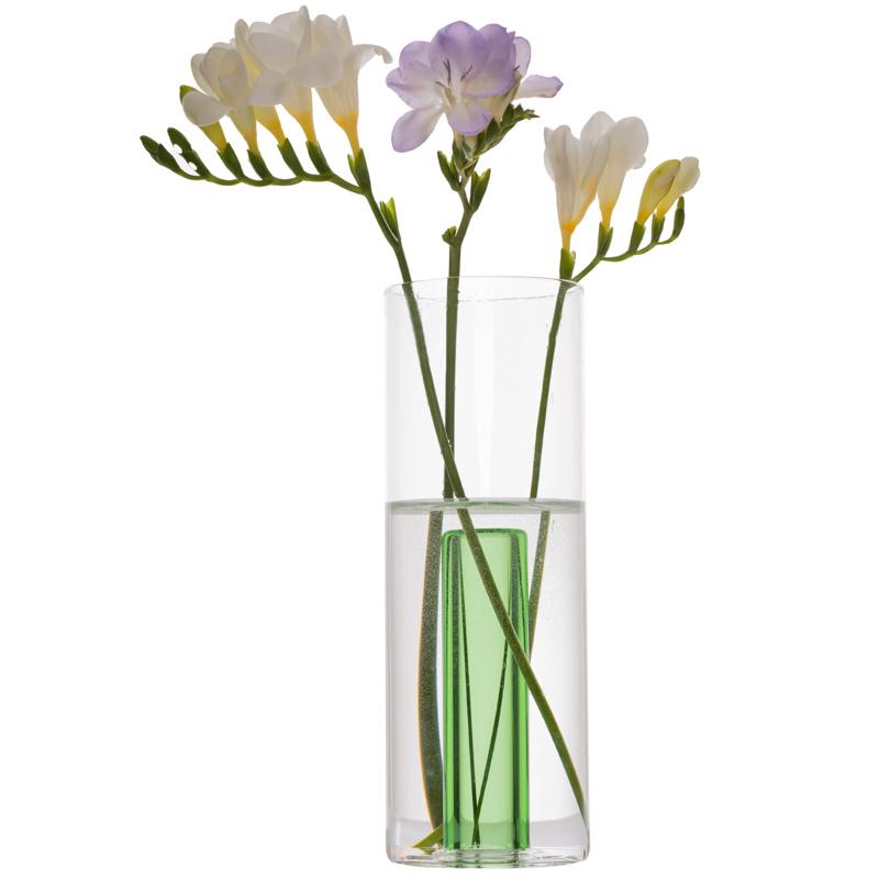 Vaza cilindrica cu tub colorat