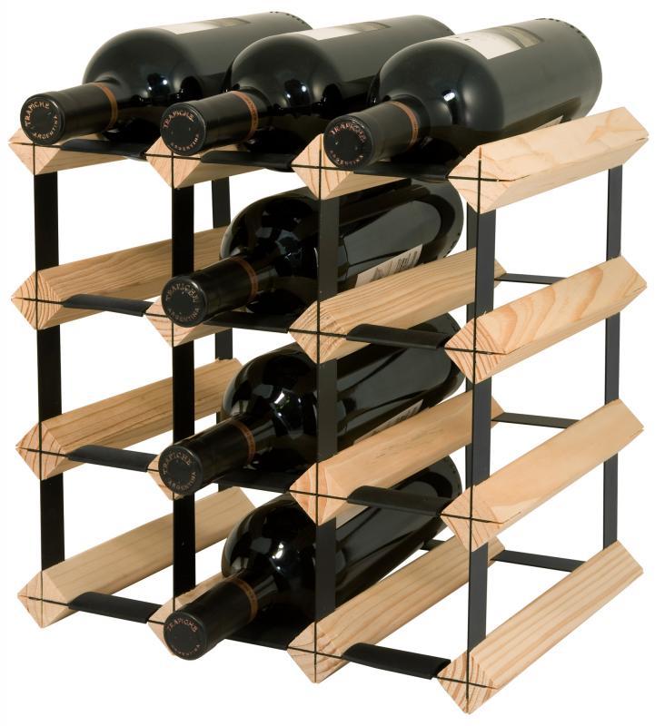 Raft lemn natur 12 sticle