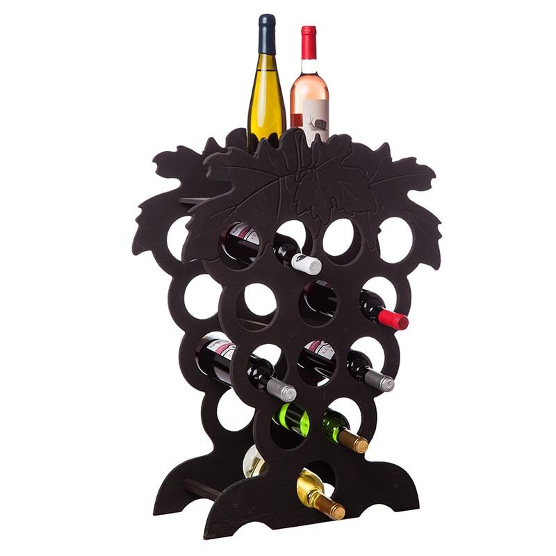 Raft Grappino negru  13 sticle vin
