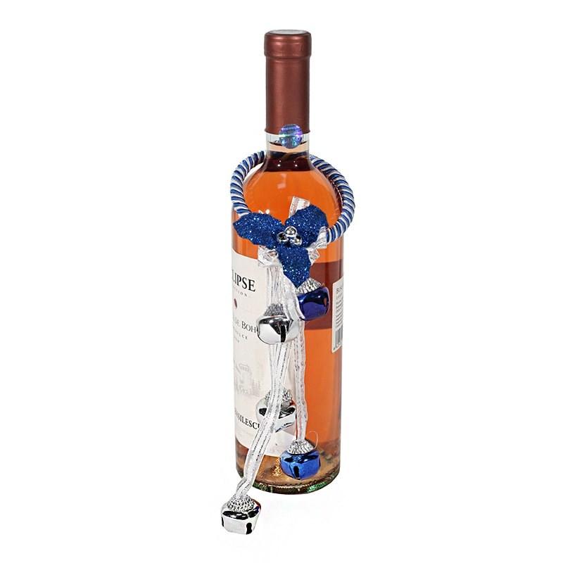 Ornament albastru sticla vin