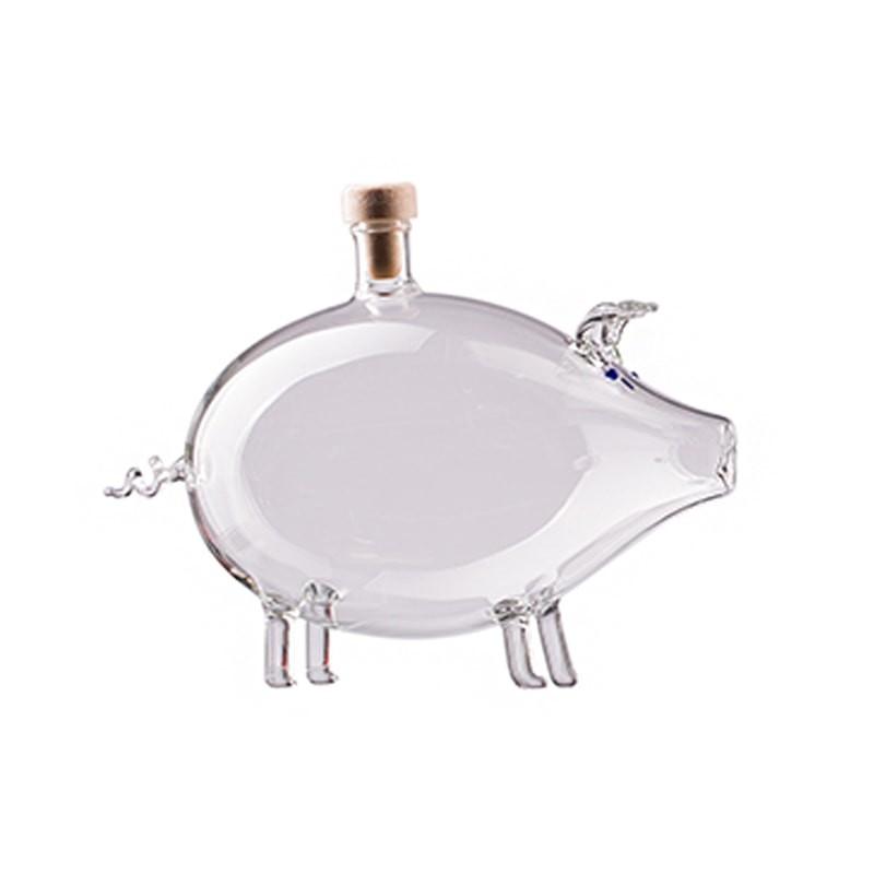 Sticla figurina porc mediu