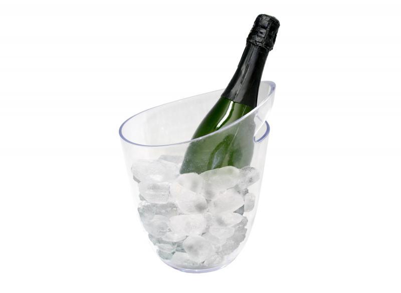 Frapiera transparenta pentru o sticla vin