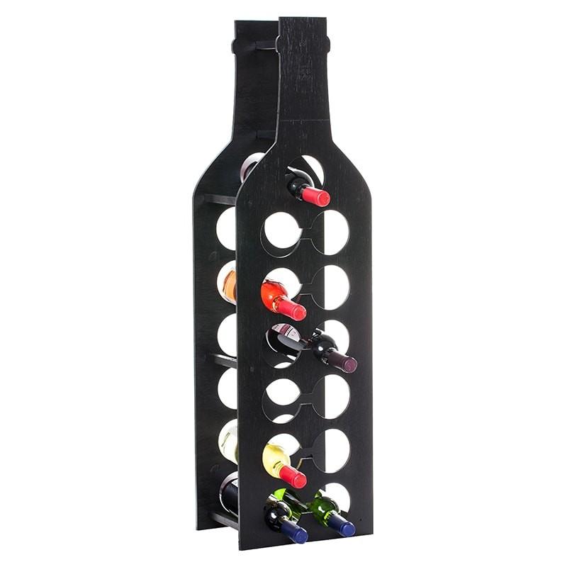 Raft Wine House negru linie 13 sticle