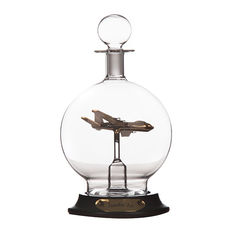 Sticla decorativa cu avion jumbo jet
