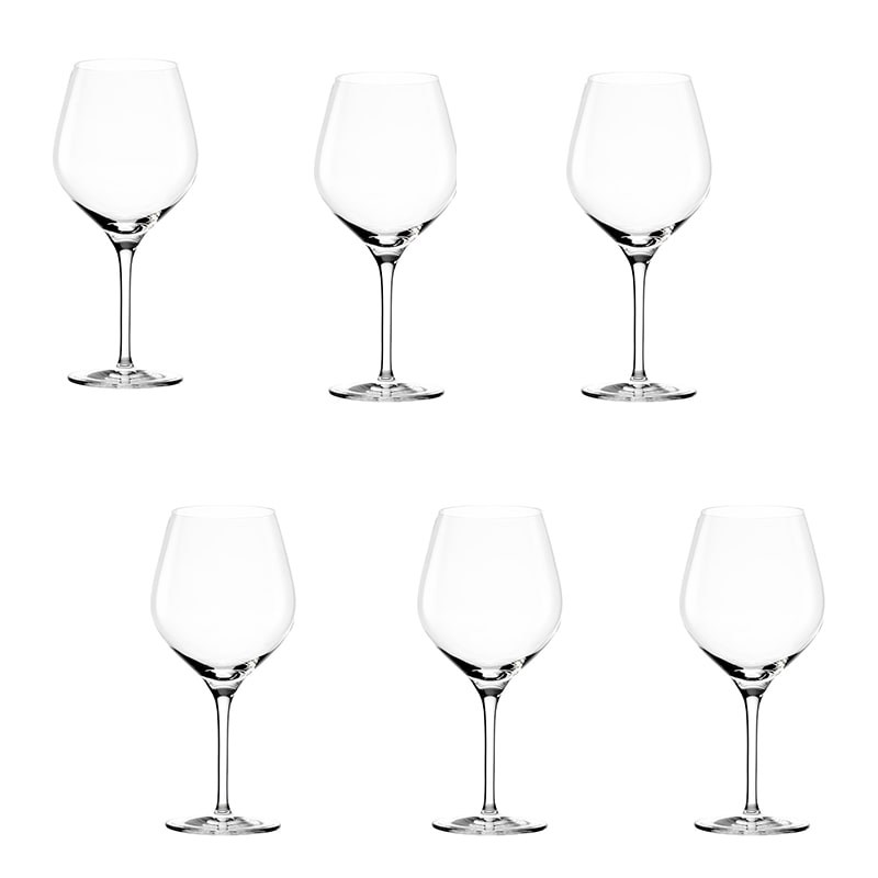 Set 6 pahare Exquisit vin rosu