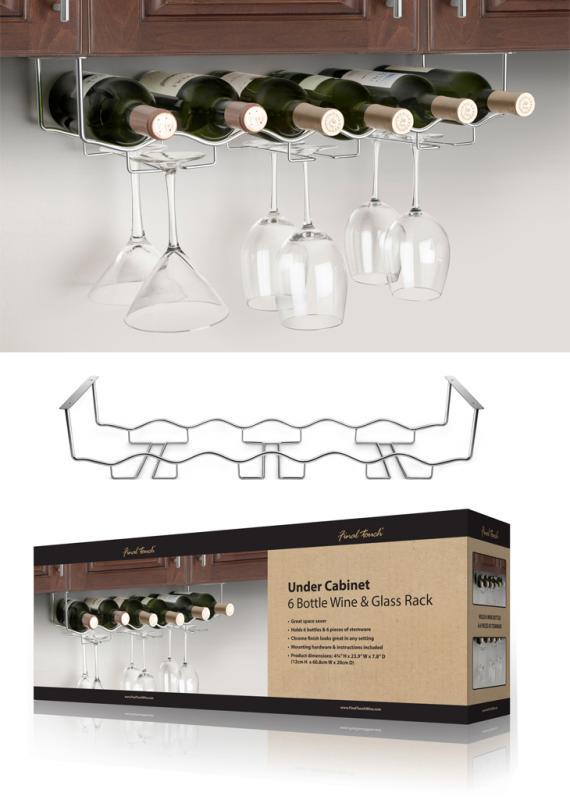 Suport inox pentru pahare si sticle vin