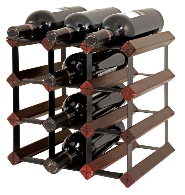 Raft lemn baituit 12 sticle