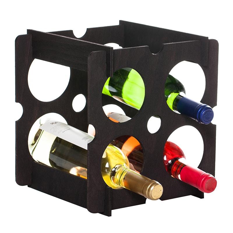 Raft Brick patrat negru 4 sticle vin