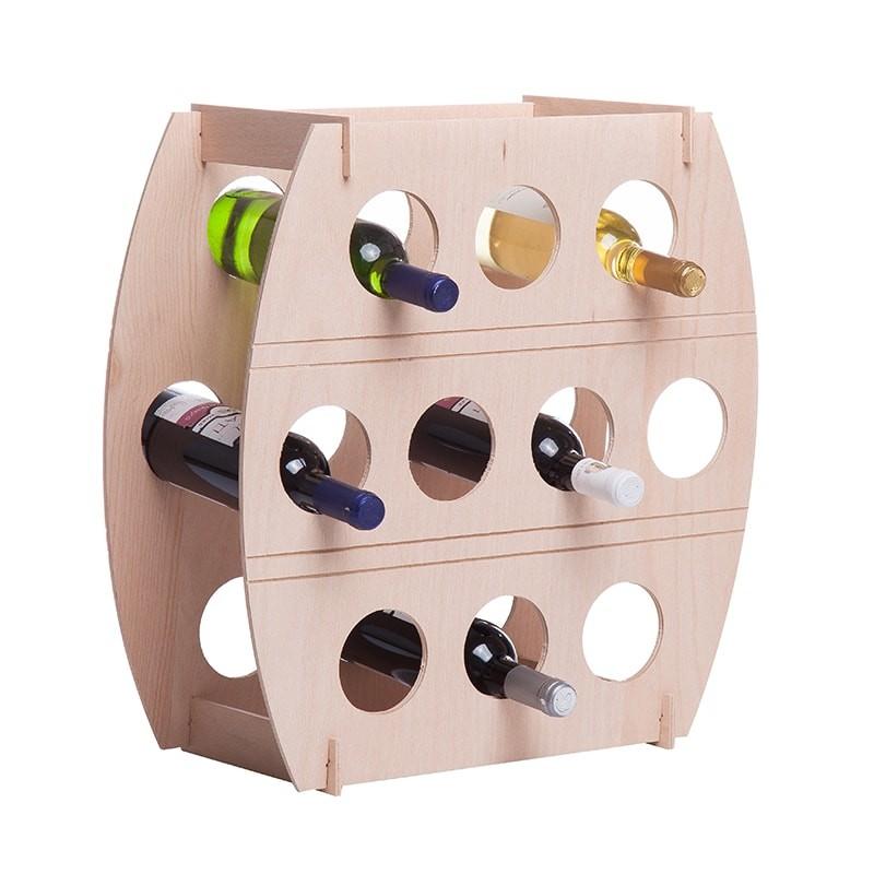 Raft natur tip butoi pentru 10 sticle