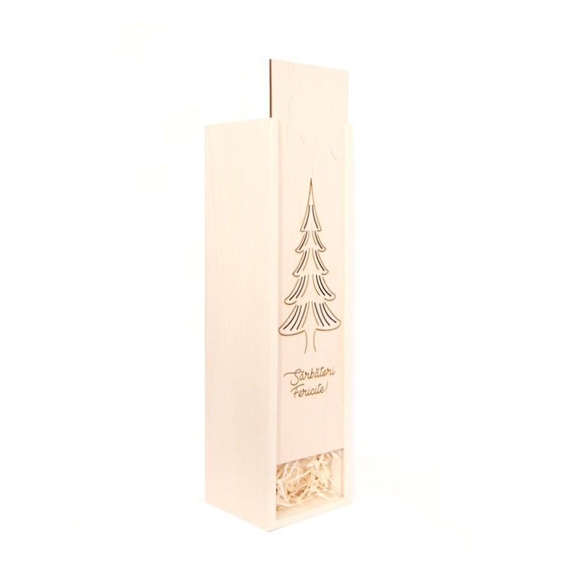Cutie lemn Sarbatori fericite
